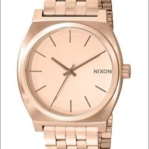 Rose gold NIXON time teller watch ⏱